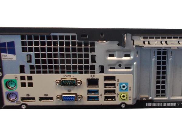 connectique arrière 705 G2 de HP